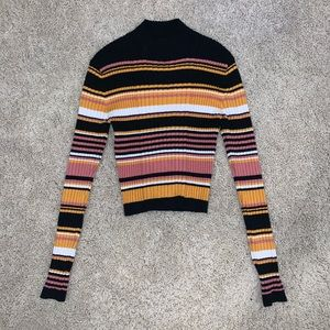 Pacsun Multi-Colored Striped Sweater Turtleneck